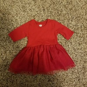 Old Navy baby red tutu dress EUC